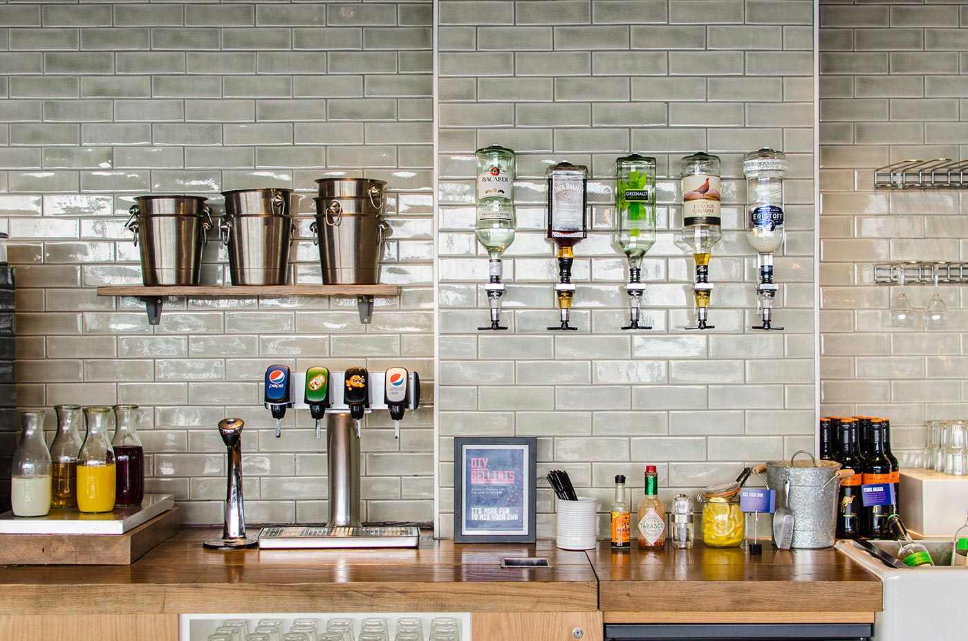 Gatwick Airport's My Lounge bar offers a wide range of drinks for passengers